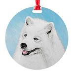 Samoyed Round Ornament