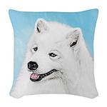 Samoyed Woven Throw Pillow