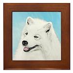 Samoyed Framed Tile