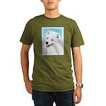 Samoyed Organic Men's T-Shirt (dark)