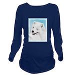 Samoyed Long Sleeve Maternity T-Shirt