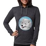 Samoyed Womens Hooded Shirt