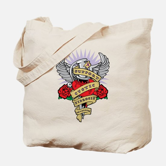 CF Dagger Tattoo Tote Bag