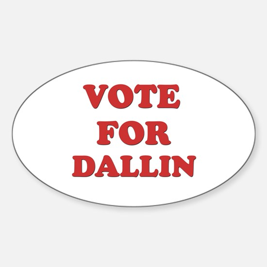 Vote for DALLIN Oval Decal