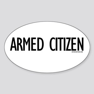 Armed Citizen Oval Sticker