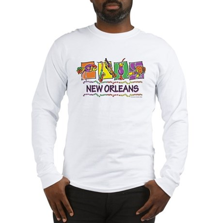 New Orleans Squares Long Sleeve T-Shirt