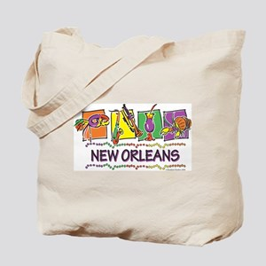 New Orleans Squares Tote Bag