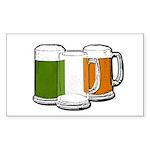 Irish Flag Mugs Rectangle Sticker