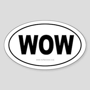 WOW Oval Sticker