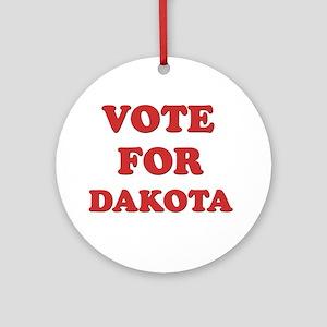 Vote for DAKOTA Ornament (Round)