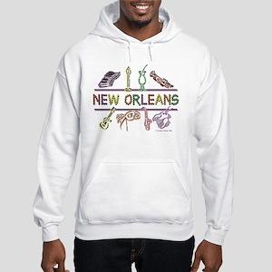 New Orleans Bead Design Hooded Sweatshirt