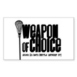 LAX Weapon Rectangle Sticker