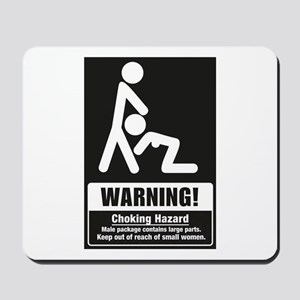 Warning Choking Hazard Mousepad