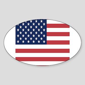 Patriotic USA flag Sticker