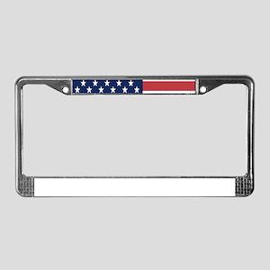 Patriotic USA flag License Plate Frame