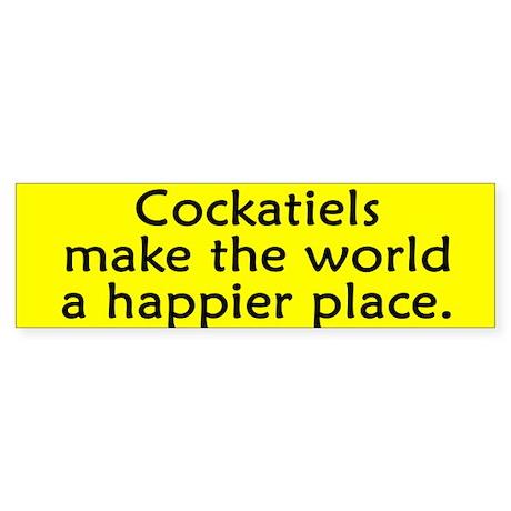Happy Place Cockatiel Bumper Sticker