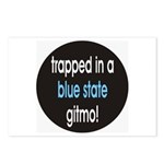 blue state gitmo Postcards (Package of 8)