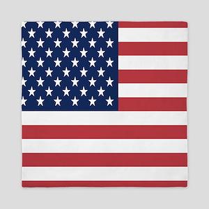 Patriotic USA flag Queen Duvet
