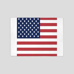 Patriotic USA flag 5'x7'Area Rug