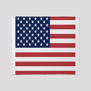 Patriotic USA flag Throw Blanket