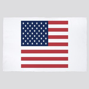 Patriotic USA flag 4' x 6' Rug