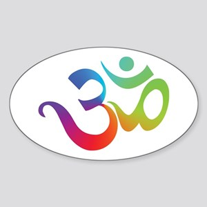 Om Oval Sticker