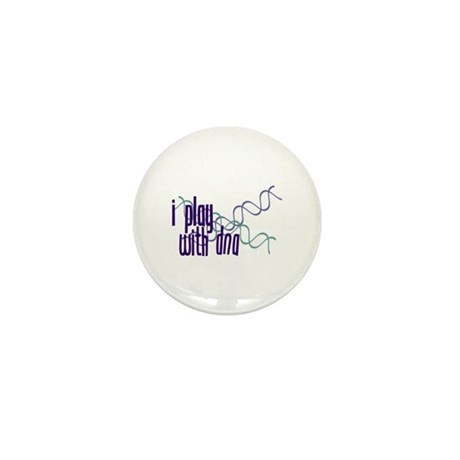I Play with DNA Mini Button (10 pack)
