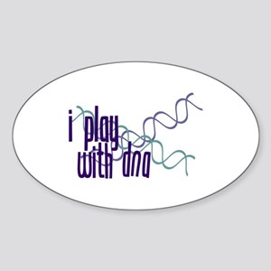 I Play with DNA Oval Sticker