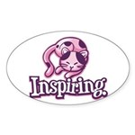 Inspiring Oval Sticker