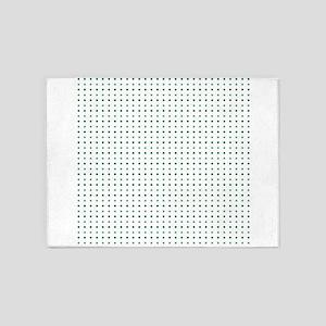 Green dots 5'x7'Area Rug