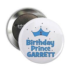 """1st Birthday Prince Garrett! 2.25"""" Button"""
