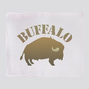 Buffalo Design Throw Blanket