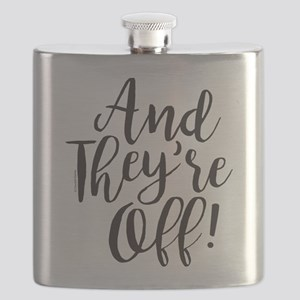 And They're Off Derby Flask
