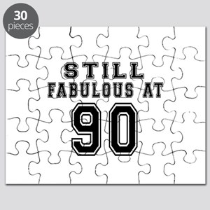 Still Fabulous At 90 Birthday Designs Puzzle