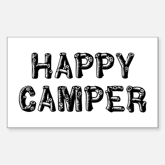 Happy Camper Sticker (Rectangle)