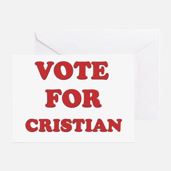 Vote for CRISTIAN Greeting Card