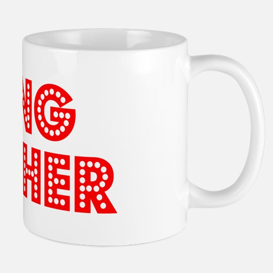 Retro Skiing Teac.. (Red) Mug