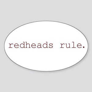 redheads rule Oval Sticker