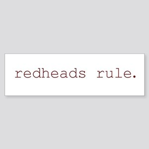 redheads rule Bumper Sticker