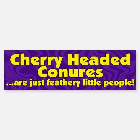 Feathery Ppl Cherry Headed Conure Bumper Bumper Bumper Sticker
