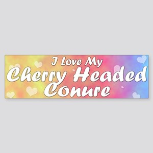 Pastel Love Cherry Headed Conure Bumper Sticker