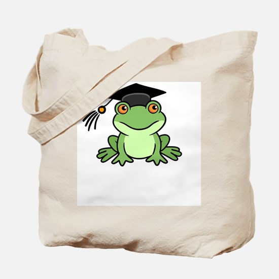 Frog Graduate Tote Bag