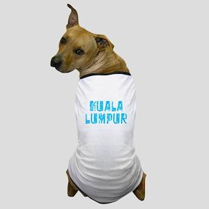 Kuala Lumpur Faded (Blue) Dog T-Shirt