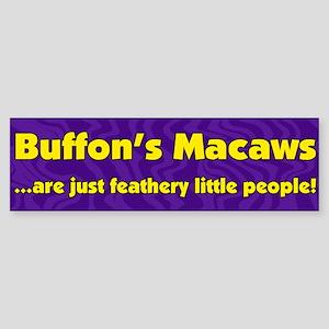 Feathery People Buffon's Macaw Bumper Sticker