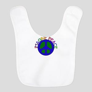 Imagine Peace Polyester Baby Bib