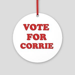 Vote for CORRIE Ornament (Round)