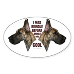 Brindle is Cool Oval Sticker