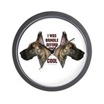 Brindle is Cool Wall Clock