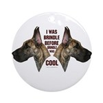 Brindle is Cool Ornament (Round)