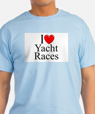 """I Love (Heart) Yacht Races"" T-Shirt"
